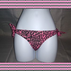 VICTORIA'S SECRET pink leopard print bikini bottom